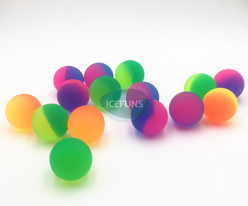Frosty two tone bouncy ball