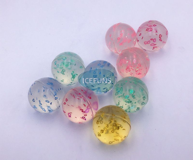 B0032 clear bouncy ball