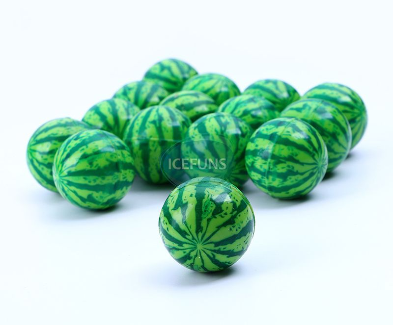 Green watermelon bouncy ball