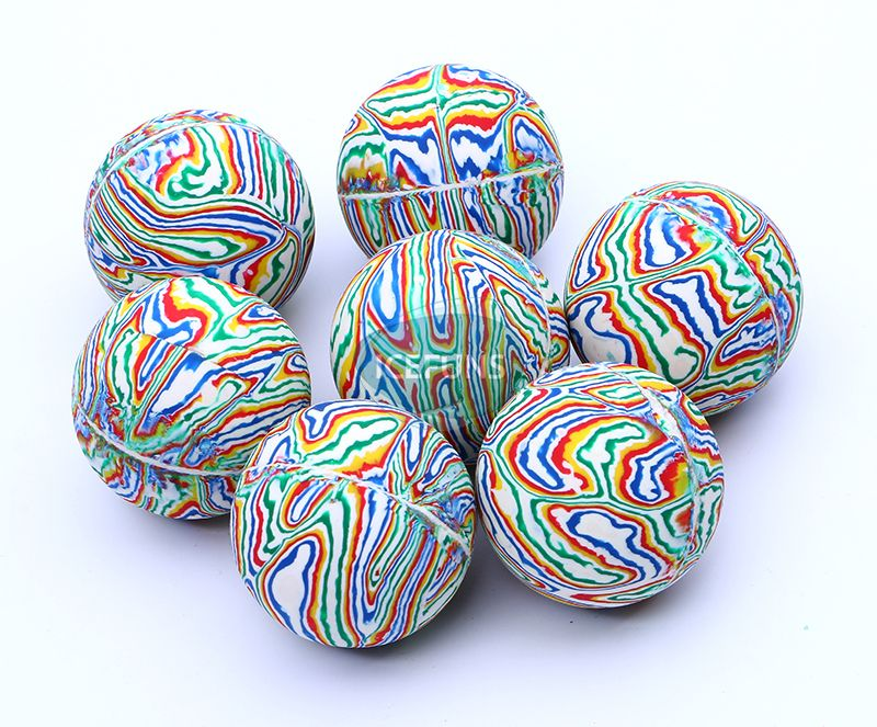 Strip bouncy ball