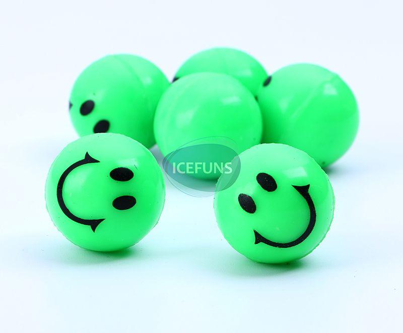 smile face bouncy ball