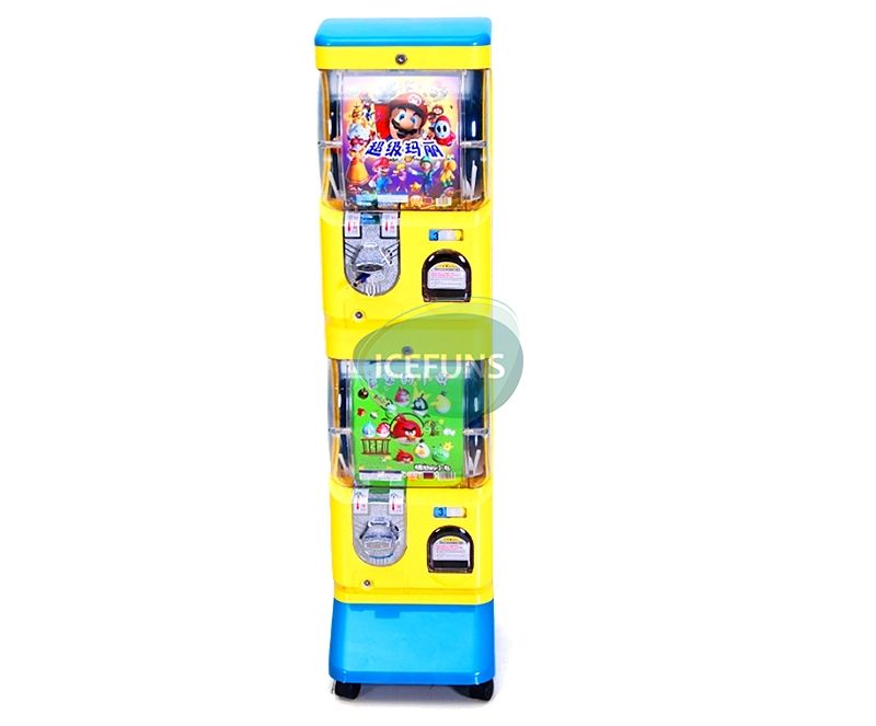 double layers gumball vending machine