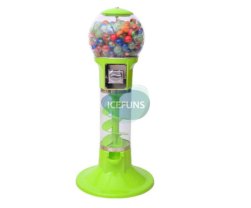 Spiral gashapon vending machine