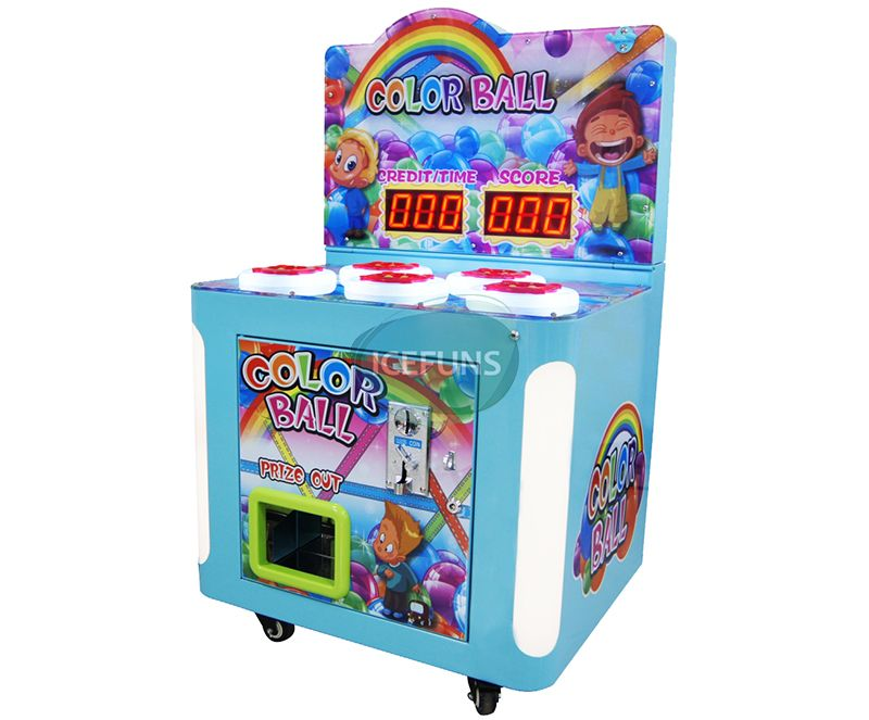 Color Ball Sponge Hammer Hitting Game Machine