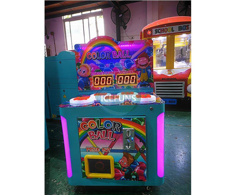 Color Ball Sponge Hammer Hitting Game Machine