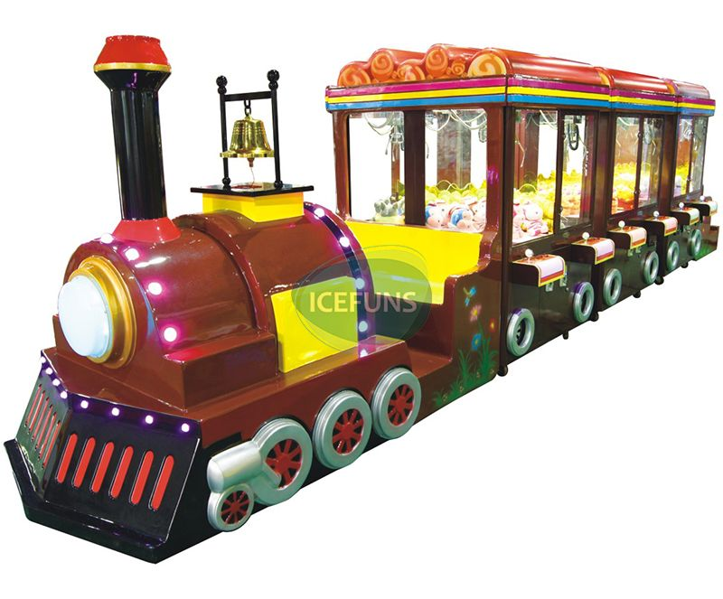 Happy Travel Train Claw Crane Machine For 12 Player