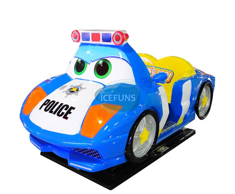 police car kiddie rides
