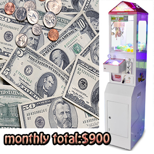 What is the benefit mini claw machine in 1 month